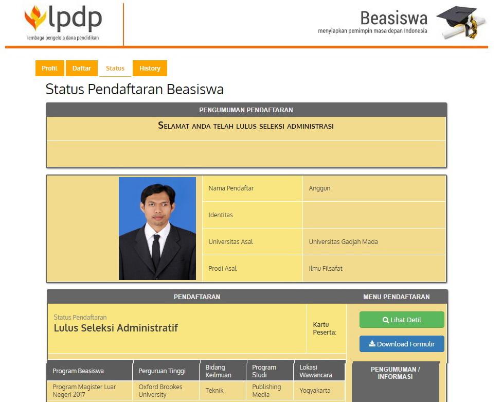 seleksi administrasi - publish